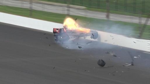 Bourdais subit plusieurs fractures dans un violent accident à Indianapolis