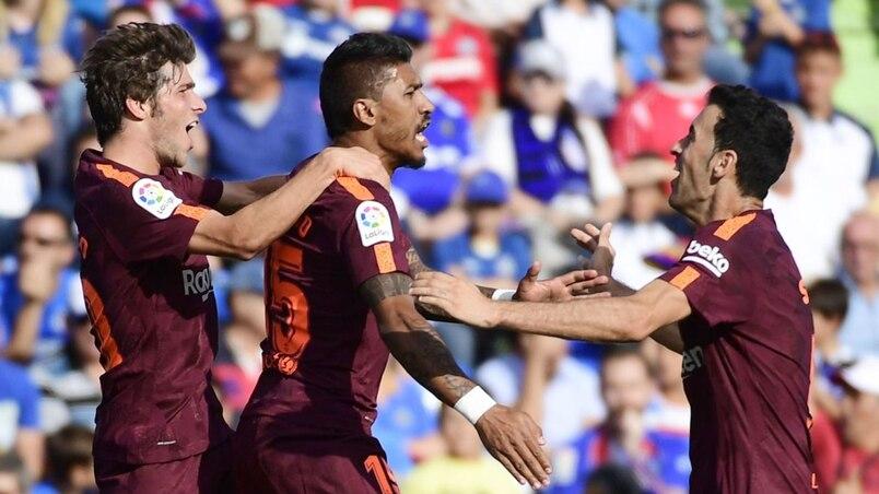 Paulinho et le FC Barcelone renversent Getafe