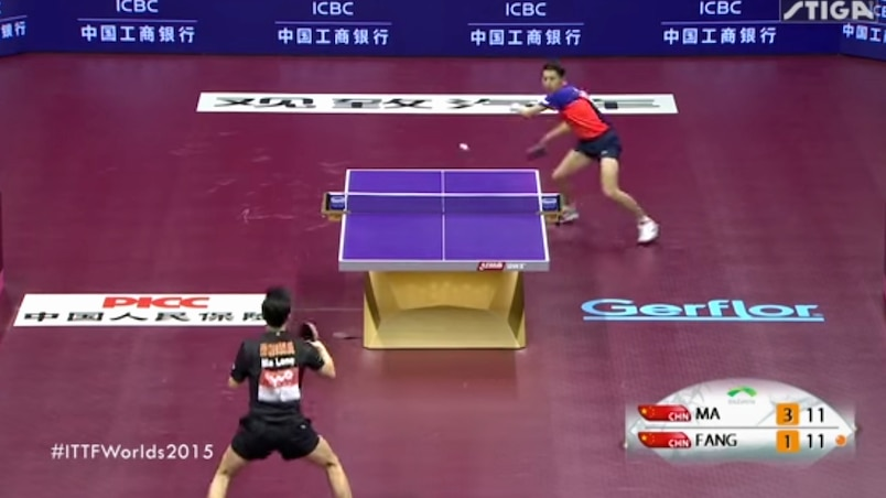 Un point incroyable au ping-pong!