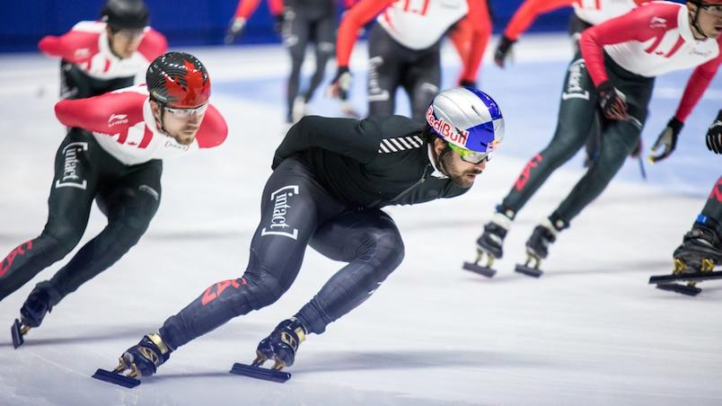 Championnats canadiens sur courte piste: Charles Hamelin victorieux au 1500 m