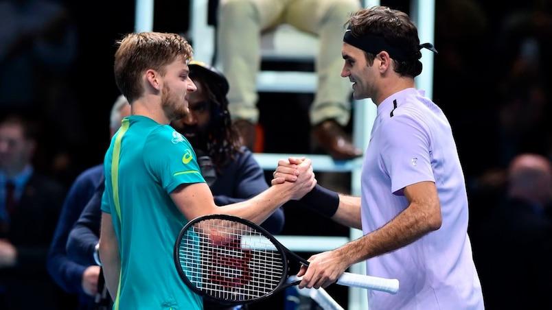 David Goffin et Roger Federer