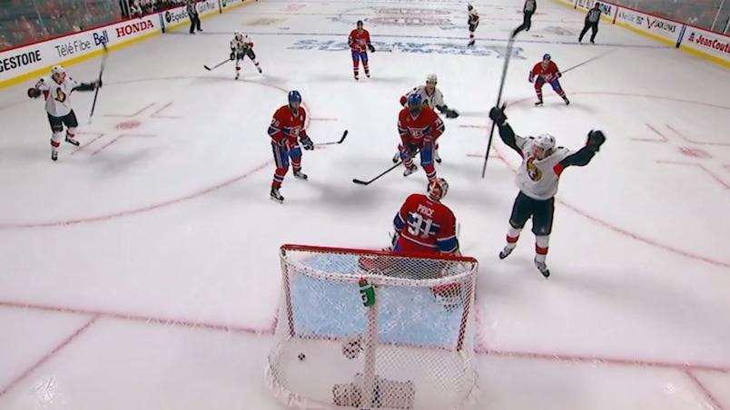 Le tir de Karlsson se fraie un chemin derrière Price