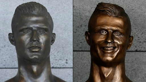 Le buste de Cristiano Ronaldo à l'aéroport de Madère remplacé en catimini