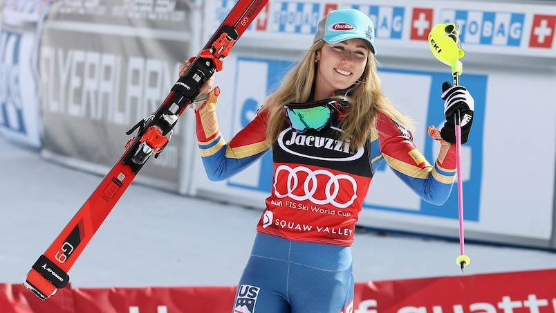 Mikaela Shiffrin championne sans même skier