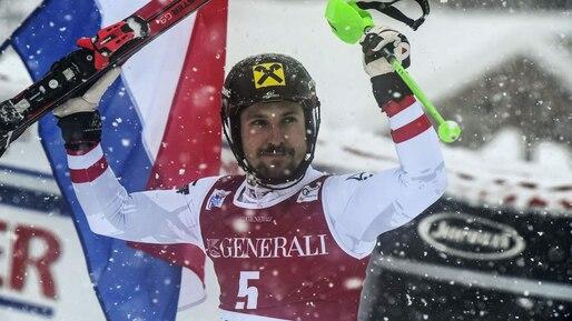 Marcel Hirscher maître du slalom à Val d'Isère