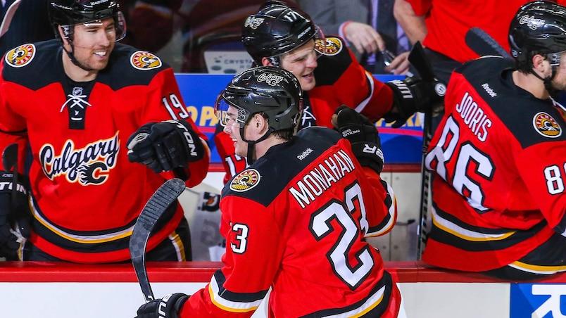 Les Flames rattrapent les Canucks