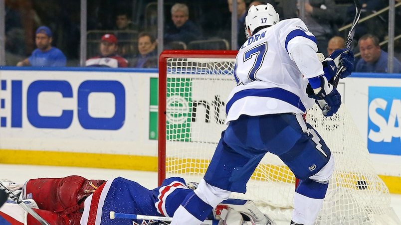 NHL: Stanley Cup Playoffs-Tampa Bay Lightning at New York Rangers