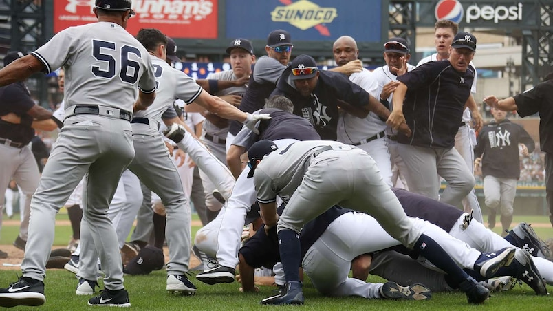 Tigers-Yankees: pluie de sanctions