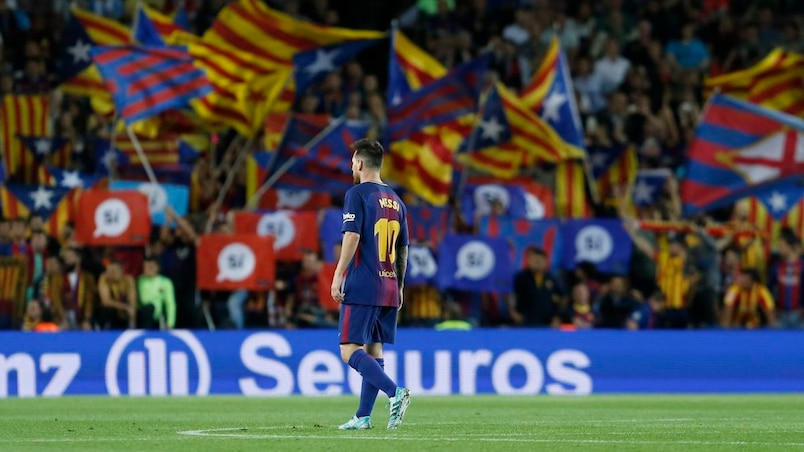 Référendum en Catalogne: le FC Barcelone condamne l'entrave au «droit à décider»