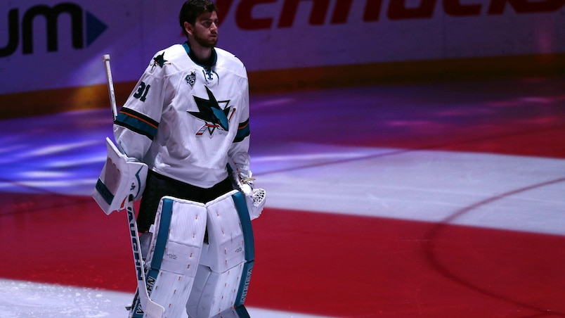Le message des Sharks aux Blues