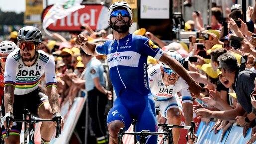 Tour de France: premier maillot jaune pour Fernando Gaviria