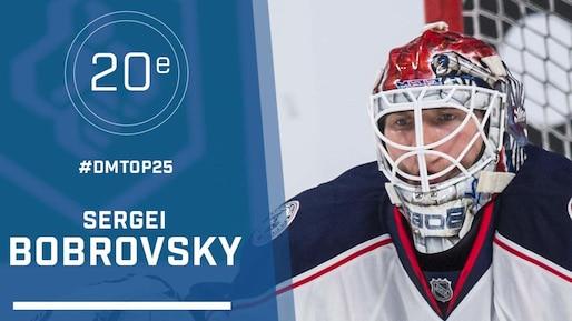 Le top 25 de la LNH : Sergei Bobrovsky, #20