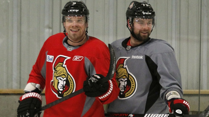 Milan Michalek et Guillaume Latendresse