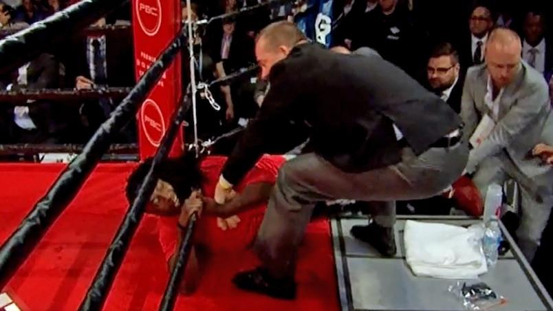 Un dérangé interrompt le combat de Zewski