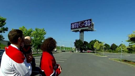 Un panneau géant pour rendre hommage à Carey Price