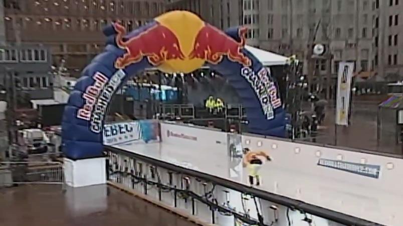 L'arrivée de la piste du Red Bull Crashed Ice de Québec.