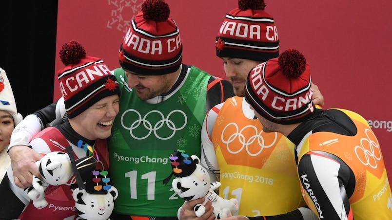 Olympiques: le Canada obtient l'argent au relais en luge