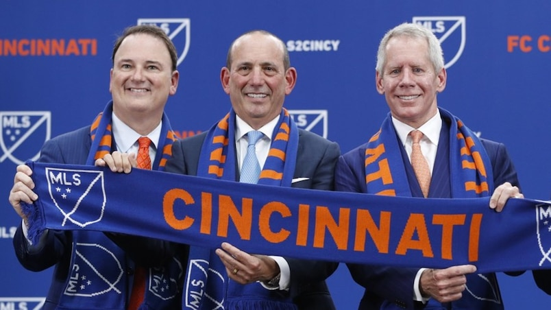 SPO-SOC-MLS-FC-CINCINNATI-ANNOUNCEMENT-WITH-MLS-COMMISSIONER-DON