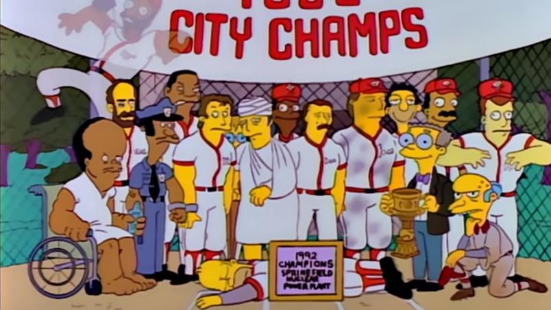 Homer Simpson au Temple de la renommée du baseball!