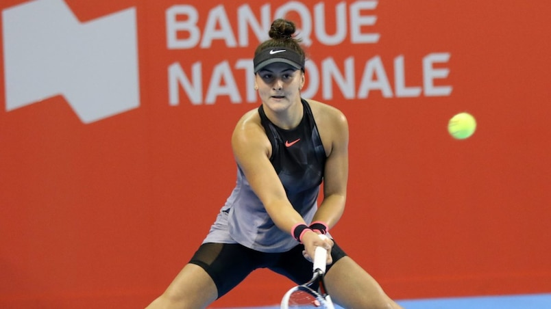Bianca Andreescu, Coupe Banque Nationale, Court central du Peps de UL, Quebec, 14 septembre 2017. PASCAL HUOT/JOURNAL DE QUEBEC/AGENCE QMI