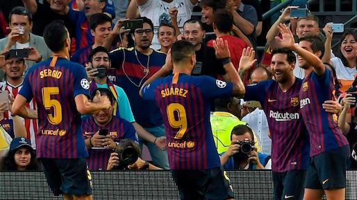 Ligue des champions: Messi réussit un triplé en lever de rideau