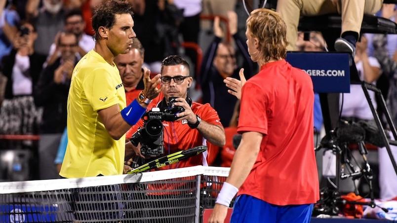 Nadal-Shapovalov: une rencontre neuf ans plus tôt