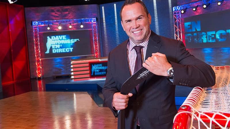 Dave Morissette, animateur de l'émission Dave Morissette en direct diffusée à TVA Sports