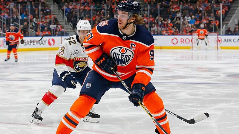Connor McDavid, attaquant des Oilers d'Edmonton