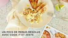 Un mois de menus résolus avec Cook it et Zeste